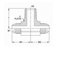 美制NPTF锥螺纹三通接头2601系列结构图