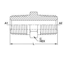 美制NPTF锥螺纹直管接头5404系列结构图
